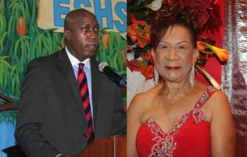 Hon Myron V. Walwyn (left), the controversial Minister for Education and Culture, has been accused of politicising horse racing in the Virgin Islands. Right: Mrs Patsy C. Lake was returned as President of the VI Horse Owners Association when elections were held on January 5, 2017. Photo: VINO/File