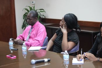 Premier Smith was speaking at his latest One on One session with members of the media on Thursday October 8, 2015 at the Central Administration Complex where he addressed a number of topical issues. Photo: VINO