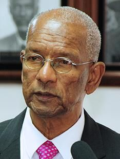 Outgoing party president and Premier, Dr the Honourable D. Orlando Smith, has not endorsed any of the two candidates to lead the NDP in to the next general elections. Photo: VINO/File