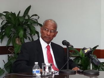 """Asked about the revelations in the report regarding the VI at a press briefing yesterday March 27, 2015 Premier and Minister of Finance Dr the Honourable D. Orlando Smith said, """"It is true that the BVI and other Caribbean countries are on that list. It is also true that the United States and the United Kingdom and several other major countries are on the list."""" Photo: VINO"""