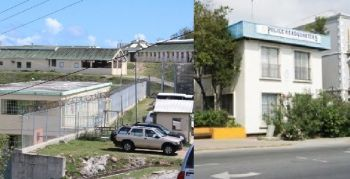 Left: Her Majesty's Prison; Right: Police Headquarters- The Internal Audit Unit has zeroed in on those two entities. Photo: VINO/File