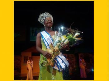 Contestant #3 Miss Jaynene Jno Lewis has won this year's Miss BVI title, beating out her competitors in the finals of the contest held at the Multipurpose Sports Complex and which ended in the early hours of this morning August 4, 2014. Photo: VINO