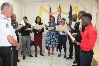 Data obtained by Virgin Islands News Online (VINO) shows that less than 20% of the RVIPF members are BVIsladers and Belongers, even as the Commissioner of Police, Michael B. Matthews swore into service a new set of young Police Officers last week. Photo: Provided