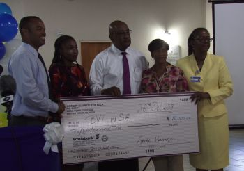 Rotary Club of Tortola made a $50k pledge towards the centre. Photo: VINO