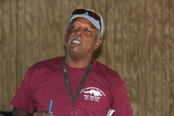Rudolph George, owner of Rudy's Bar in Jost Van Dyke also complained about the speeding drivers. Photo: VINO
