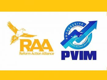 The NDP breakaway group, Progressive Virgin Islands Movement (PVIM) is headed by Hon Ronnie W. Skelton (AL) and the new Reform Action Alliance (RAA), has an unknown leader. Photo: PVIM/RAA