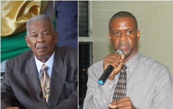 First District Representative Honourable Andrew A. Fahie (right) believes Leader of the Opposition and long time Legislator Honourable Ralph T. O'Neal OBE should be the one credited for the completion of the new Peebles Hospital. Photo: VINO/Andre 'Shadow' Dawson