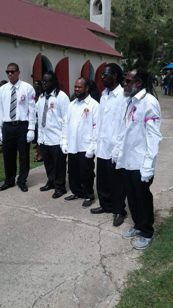 Some of the Pallbearers at the funeral of Leeann Forbes on May 5, 2018. Photo: Team of Reporters