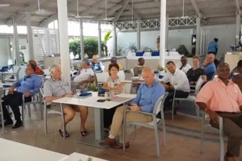 Members of the Rotary Club of Tortola at a luncheon at The Moorings on January 28, 2018. Photo: Facebook