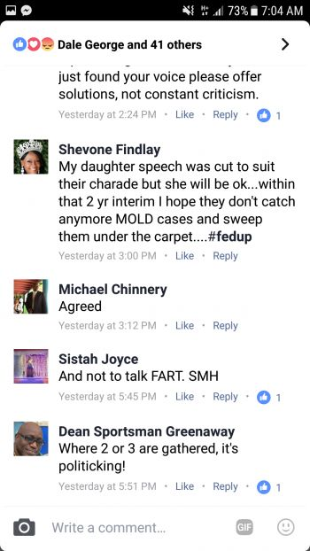 Some of the comments on Facebook that took on a political tone. Photo: Facebook
