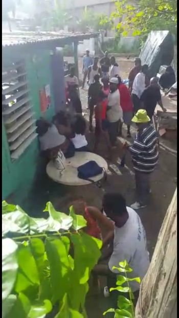 At least two videos have been circulating on social media of the brawl involving at least six women in the area of Road Town known as Crabbe Lot or 'The Ghetto'. Photo: Team of Reporters