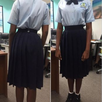 As the new school term commences in the Virgin Islands (VI), some 70 students at the Elmore Stoutt High School (ESHS)—mostly girls—were allegedly sent home yesterday, September 16, 2019, for uniform violations according to one irate relative of a student. Photo: Facebook