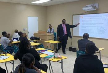 In a Facebook post this afternoon, October 3, 2019, Premier Fahie said, 'It is always a pleasure to visit the H. L Stoutt Community College to mingle with our future professionals and leaders who are preparing for the BVI of tomorrow. Minister Rymer and I were happy to hear from them.' Photo: Facebook