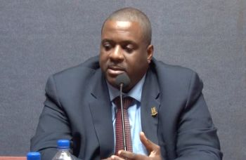 Premier Andrew A. Fahie (R1) said a working committee between the two countries will also try to meet at least once a month to formulate solutions to more issues. Photo: Facebook/File