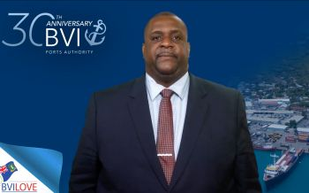 Premier and Minister of Finance, Hon Andrew A. Fahie (R1) in congratulating the BVI Ports Authority on its 30th anniversary, said the authority remains integral to the territory's economic development. Photo: VINO/File