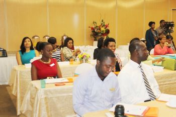Wedding planners and other service providers attending the seminar number more than 20 and come from as far as Anegada and Virgin Gorda. Photo: VINO