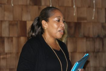 BVI Tourist Board Director, Mrs Sharon Flax-Mars, admitted that there have been 'perception challenges' in the past with the Board and working effectively but asked that she be taken at her own merit while suggesting that things be looked at in totality before 'jumping and making decisions'. Photo: VINO