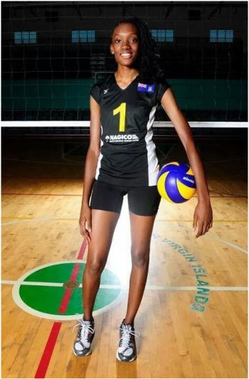 At just 22-years-old, Ms Sharonda A. Pickering is a senior International Student-Athlete, at Florida Gulf Coast University (FGCU), playing on the Volleyball team as a middle blocker/right-side hitter. Photo: Provided