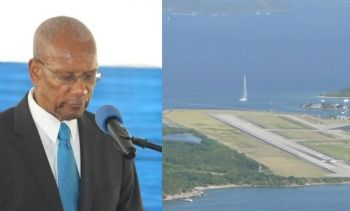 Premier Dr The Hon D. Orlando Smith (AL), left, said his government pumped $7Million into BVI Airways in exchange for direct flights between Miami and Beef Island. Photo: VINO/File