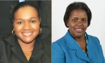 Former Principal Crown Counsel in the Office of the Director of Public Prosecutions, Mrs Tiffany R. Scatliffe-Esprit, left, became the first local appointed Director of Public Prosecutions (DPP) on May 5, 2020, after acting in the role since December 14, 2019. Virgin Islander and attorney, Ms Dawn J. Smith, right, has been selected to fill the post of Attorney General. Photo: GIS/File