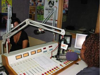 Sophie interviewing Jamaican artist Tesanne Chin. Photo:provided