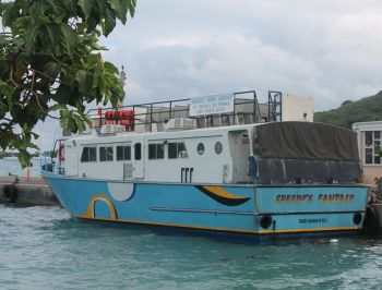The ferry that transported the injured passengers. Photo:VINO