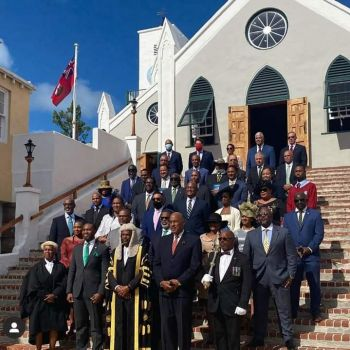 On Friday, November 6, 2020, the entire government of Bermuda inclusive of; The Governor, all elected Members of Parliament and all appointed Senators found themselves down in the town of St Georges. Photo: Provided