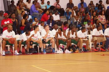 The team Bayside Blazers' bench. Photo: Andre 'Shadow' Dawson