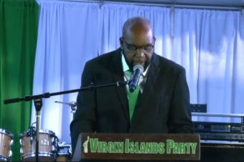 "BVI Softball Association President Mr Smith, whose speech focused on local development says he envisions, ""a community that thrives on togetherness. A community working hand-in-hand to make a difference for our youth, our homeless, and our neglected."" Photo: Facebook"