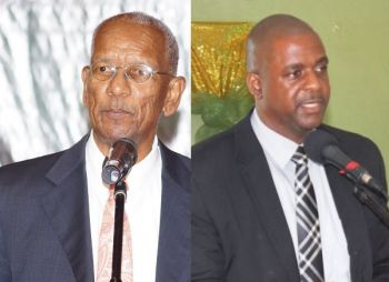 Premier and Minister of Finance Dr The Hon D. Orlando Smith (AL), left, and Opposition Leader Hon Andrew A. Fahie (R1), right, will be some of the speakers at the national march and demonstration scheduled for Thursday May 17, 2018. Photo: Andre Dawson aka 'Shadow'/VINO