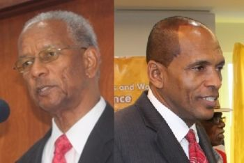 Both the Premier and Minister of Finance Dr. the Honourable D. Orlando Smith (Left) and Minister for Communications and Works, Honourable Mark H. Vanterpool made attempts to discredit the Auditor General's Report. Hon. Vanterpool questioned the authenticity of the report in a statement released on November 5, 2013. The Premier claimed that his government did nothing wrong and that we must trust him! Photo: VINO/File