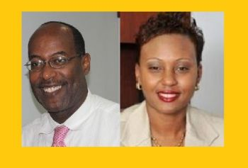 Geraldine Ritter-Freeman (right) has been tipped for the post of Acting Chief Immigration Officer and is expected to take up duties as early as next week. This means that it is the second time Mr Guy M. Hill (left) has been snubbed for the post. Photo: VINO/File/Provided