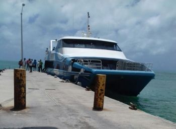 One of the vessels belonging to Speedy's Ferry at Anegada. Photo: VINO'File