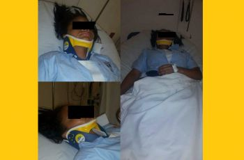 The school girl who was allegedly hospitalised after being assaulted by a male student of Bregado Flax Educational Centre on October 18, 2016. Photo: Facebook