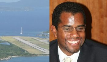 Left: Terrance B. Lettsome International Airport on Beef Island. Right: Mr Andrew L. St Hilaire holds the substantive post of Director of Civil Aviation Department. Photo: VINO/File