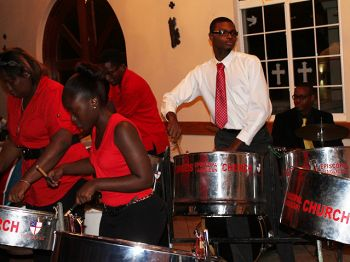 Concert attendees were also treated to the sweet sounds of steel pan music. Photo: VINO