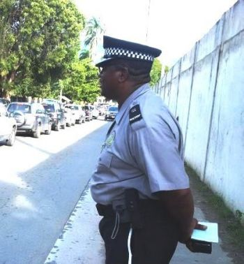 Infamous traffic officer Glenn Callwood aka 'Supa Cop'. Photo: VINO/File
