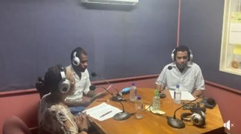 From left: Violet Thomas-Gaul, Damion C. Grange and Elvin Grant on the August 17, 2020, edition of Talking Points. Photo: VINO/File