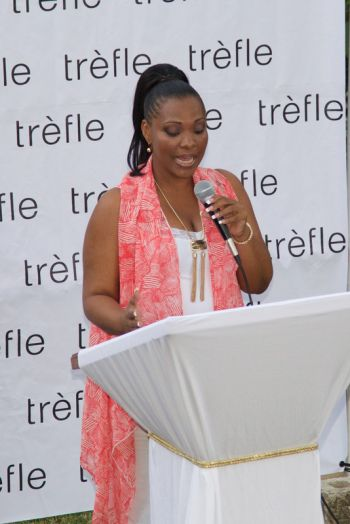 Scene from the launch of the Trefle Designs online boutique at JR O'Neal gardens. Photo: provided