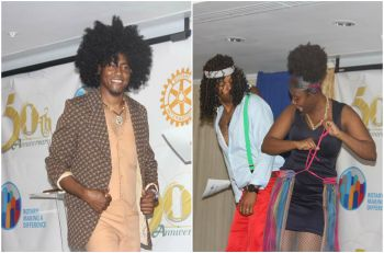 Rotarians paid tribute to some of the past presidents by entertaining the audience with a fashion show. Photo: VINO