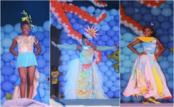 The princess contestants during the Triple S wear (sun, sand, sea) segment at the 2017 Prince and Princess pageant. Photo: VINO