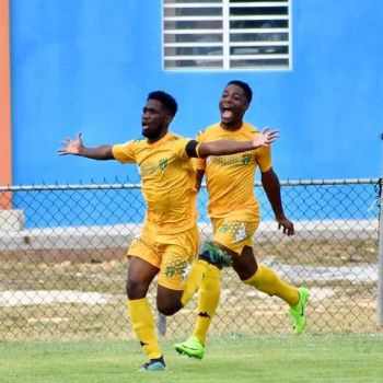 Captain of the Senior Virgin Islands Football team, Kavon T. Caesar aka 'Troy', left, is confident the coaching staff and the team are ready for the game against Bonaire today, September 6, 2019. Photo: Facebook