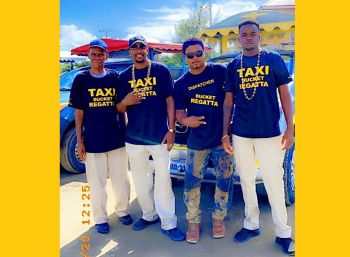 According to owner of Sweet Ice Willy taxi service, Mr William A. Penn (2nd from left), he believes he was targeted in such an obscene manner because of jealousy since his taxi service's popularity has grown over the years because of its professionalism and hospitality efforts. Photo: Team of Reporters