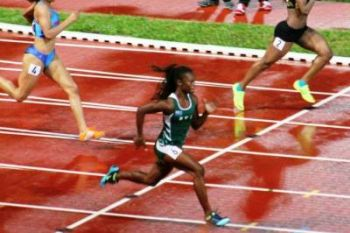 Taylor Hill ran her second successive 200m under 25.00 seconds to place fourth in the Tyson Invitational Olympic Development event in 24.74 seconds in Fayetteville, Ark. Photo: File