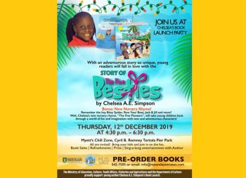 The book is scheduled to be launched on December 12, 2019, at 4:30 pm at Myett's Chill Zone at the Cyril B. Romney Tortola Pier Park and the family says Amazon and Barnes & Noble is next on the list of retail hopefuls to stock the publication. Photo: Provided