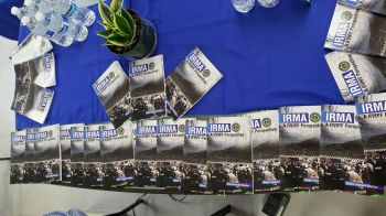 The book titled, 'Irma – A RVIPF Perspective' and compiled by Public Relations Officer Diane L. Drayton, was launch at the RVIPF's Wilson T. Sylvester Recreational Facility, in the Road Town Police Station, among members of the media and officers on Wednesday May 8, 2019. Photo: VINO