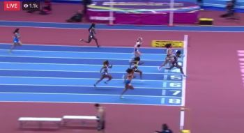 That heat was won by Carolle Zahi of France in a personal best time of 7.11. Photo: Youtube
