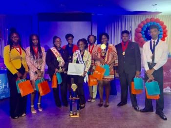 The Junior Minister of Tourism competition was held at Maria's By The Sea last evening, June 8, 2019, when the eight contestants delivered on a range of tourism based topics. Photo: Team of Reporters