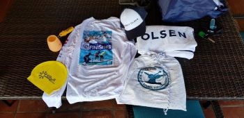 Contestants of the Swim and SUP the Sound 2019 were treated to quality goody bags. Photo: VINO