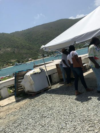 Residents of Jost van Dyke are calling for the repair of the port of entry in Great Harbour. Photo: VINO